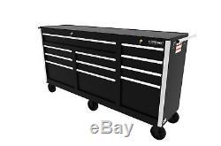 Craftsman Craftsman 73 in. 11-Drawer Ball Bearing Slides Cabinet, Black