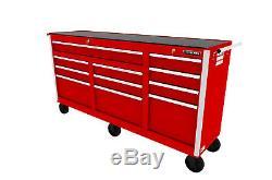 Craftsman Craftsman 73 in. 11-Drawer Ball Bearing Slides Cabinet, Red
