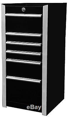 Extreme Tools EX1606SBBK 6-Drawer Side Box with Ball Bearing Slides, 16 in, Black