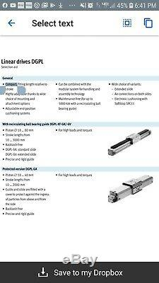 FESTO DGPL-18-350-PPV-A-B-KF-GK-SH, pneumatic linear drive. Ball bearing slide