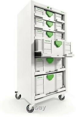 Festool Sys-Port 1000/2 Systainer Storage Cabinet adj. Drawers RARE! P/N 491922