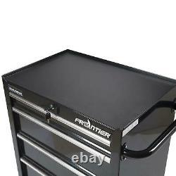 Frontier 26 Inch 4 Drawer Bottom Chest Steel Tool Organizer Cabinet Type Black