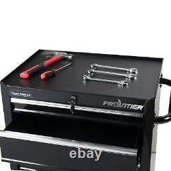 Frontier 4- Shelf 26 Bottom Chest Steel Tool Cabinet Organizer, Black. NEW