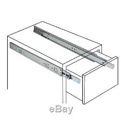 Full Extension Drawer Slide Side/Rear Undermount Ball Bearing Soft Close Slides