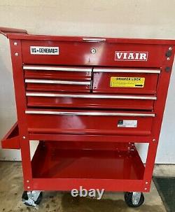 Gently Used US General 30 Red 5 Drawer Roller Tool Cart Storage Cabinet Chest
