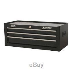 Genuine SEALEY AP223B Mid-Box 3 Drawer with Ball Bearing Slides Black