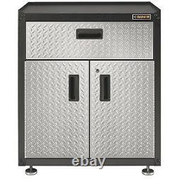 Gladiator 28-inch Ready-to-Assemble Steel 2-Door Freestanding Garage Cabinet wit