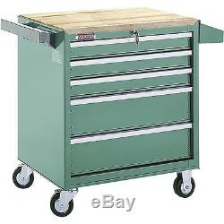 H0840 Grizzly 5 Drawer Roll-Cabinet with Ball Bearing Slides