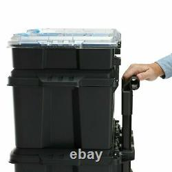 HART Stack System, Mobile Tool Storage and Organization, Black & Blue Fast Ship