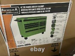 HOMAK OG-LG04041093 41 in. 9 Drawer 18 deep RS Lime Green / Orange Toolbox