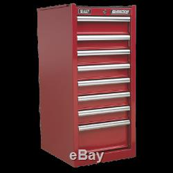 Hang-On Chest 8 Drawer with Ball Bearing Slides Red SEALEY AP33589