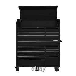 Heavy-Duty 56 in. W 18-Drawer Combination Tool Chest And Cabinet Set Matte Black