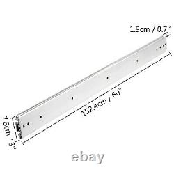 Heavy Duty Drawer Slides 500lb Full Extension 60 Ball Bearing Cold Rolled Steel