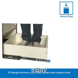 Heavy Duty Drawer Slides with Lock 1240, Full Extension Ball Bearing, 1-Pair