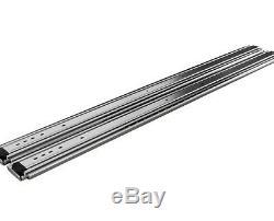 Heavy Duty Steel Ball Bearing Drawer Slides 500 lb. Capacity 60 Length