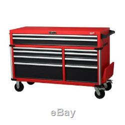 High Capacity 10-Drawer Roller Cabinet Tool Chest Milwaukee 56 In. Digital Lock