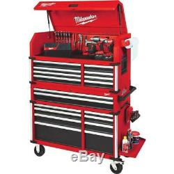 High Capacity 46 in. Drawer Tool Chest and Cabinet Combo Red Organizer NEW