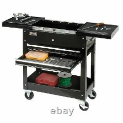 Homak 27 2 Drawer Tool Cart with Sliding Top