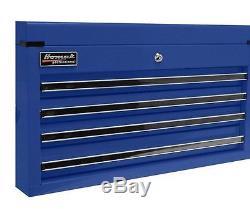 Homak Professional 4-Drawer Ball-Bearing Slides Steel Tool Chest Blue Storage