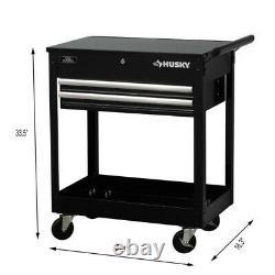 Husky 28 2-Drawer Mechanics Tool Utility Cart (HL4)