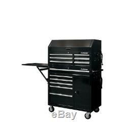 Husky 41 in. W 12-Drawer Deep Combination Tool Chest and Rolling Cabinet Set in