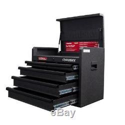 Husky 5-Drawer Top Tool Chest Metal Storage 26 Textured Black Organizer Durable
