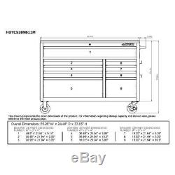 Husky 52 in. 9-Drawer Deep Tool Chest Mobile Workbench with Six Outlets & USB Port