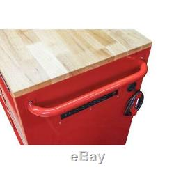 Husky 52 in. W 9-Drawer, Deep Tool Chest Mobile Workbench in Gloss Red
