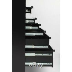 Husky 61 in. W x 18 in. D x 6-Drawer Tool Chest Rolling Cabinet in Black