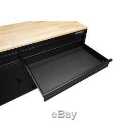 Husky 62 in. 5-Drawer 1-Door Mobile Workbench in Matte Black