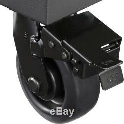 Husky 72 in 18-Drawer Mobile Workbench Adjustable-Height Solid Wood Matte Black
