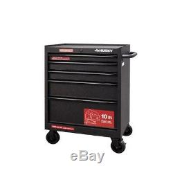 Husky Bottom Tool Chest Cabinet 27 in. W 5-Drawer Anti-Scratch Textured Black