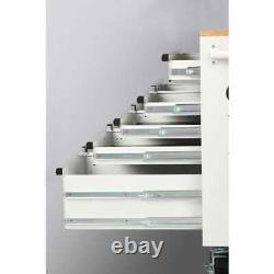Husky Chest Mobile Workbench 46 W x 24.50 D 9-Drawer Gloss Deep White