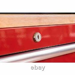 Husky Deep Tool Chest Mobile Workbench 52-Inch W 9-Drawer Gloss Red