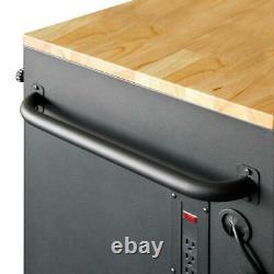 Husky Deep Tool Chest Mobile Workbench 52 in. W 9-Drawer Hardwood Top