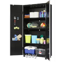 Husky Freestanding Garage Cabinet 36 in. W x 72 in. H x 18 in. D 24-Gauge Steel