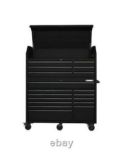 Husky HD 56 in. W 18-Drawer Combination Tool Chest and Cabinet Set, Matte Black