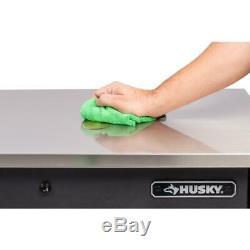 Husky Heavy-Duty 72 in. W 15-Drawer, Deep Tool Chest Mobile Workbench in Matte