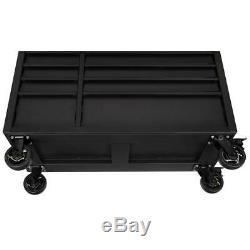 Husky Industrial 52 in. W x 21.5 in. D 9-Drawer Tool Chest Rolling Cabinet in