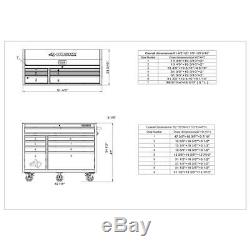 Husky Industrial 52 in. W x 21.7 in. D 15-Drawer Tool Chest and Rolling Cabinet