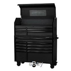 Husky Industrial Chest and Rolling Cabinet Combo 52 in x 21.7 in 15 Drawer Tool