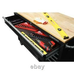 Husky Mobile Workbench 52-Inch W 9-Drawer Deep Tool Chest Gloss Black