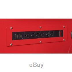 Husky Mobile Workbench 52 in. 9-Drawer Ball Bearing Slides Wheel Locks Red