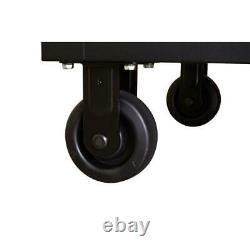 Husky Mobile Workbench 52 in. W 9-Drawer Wood Top Keyed Lock Included Steel