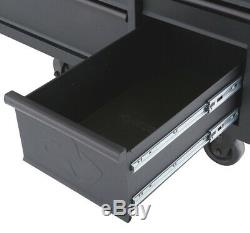 Husky Mobile Workbench 61 in. 10-Drawer 1-Door Adjustable Shelves Pegboard