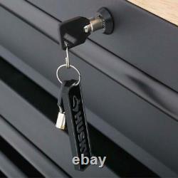 Husky Mobile Workbench 61 in. W 10-Drawer 1-Door Deep Tool Chest Matte Black