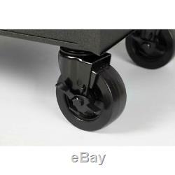 Husky Mobile Workbench 66 in. W Lockable Ball Bearing Slides 12-Drawer Black