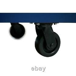 Husky Mobile Workbench 72 18-Drawer Adjustable-Height Solid Wood Top Matte