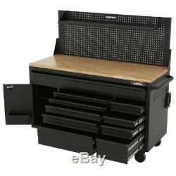 Husky Mobile Workbench Deep Tool Chest 61 in. W 10-Drawer 1-Door Hardwood Top
