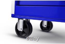 Husky Roller Cabinet Tool Chest 56 in. 10-Drawer Ball Bearing Slides Blue